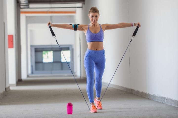 resistance bands for elderly - lateral raise