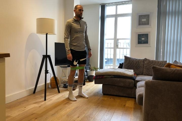 resistance bands for elderly - banded knee raise