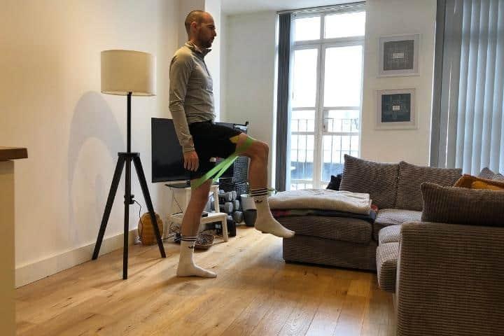 resistance bands for elderly - banded knee raises