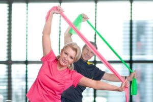 seated resistance band exercises elderly
